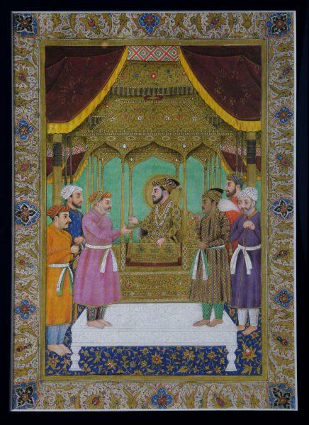 Miniature du Grand Moghol Shâh Jahan