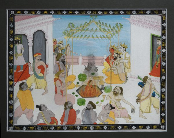 Miniature hindoue de la sati