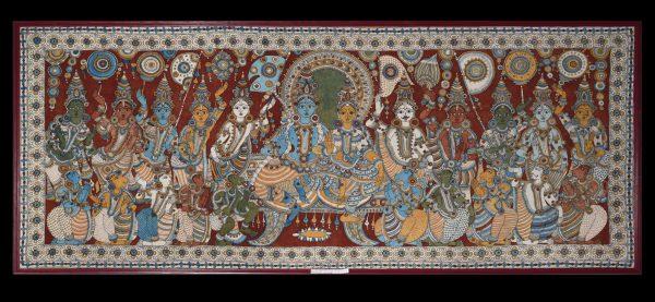 Rama et Sita en majesté (kalamkari)