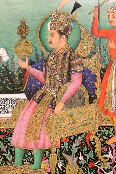 Détail d'un miniature du Grand Moghol Jahangir