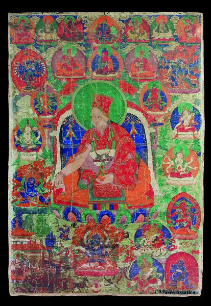 Portrait de lama tibétain (Thangka)